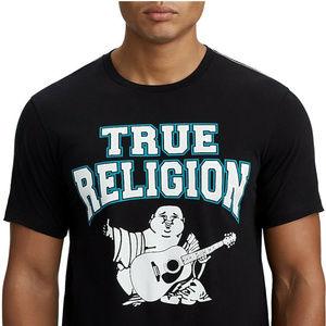 True Religion Men's Two-Tone Buddha Graphic Tee